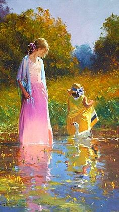 A Tranquil Moment ~ Oil On Canvas~ Robert Hagan