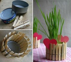 Small can + pegs