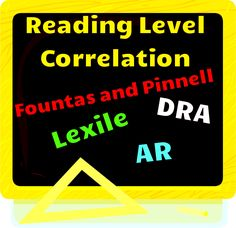 Free reading level correlation chart for Fontas and Pinnell, DRA, Grade Level AR, and Lexiles.