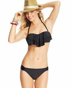 Hula Honey Tiered Flounce Bikini Top - Swimwear - Women - Macy's