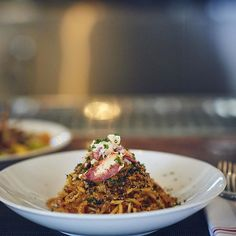 Spaghetti Rustichella lobster, sea urchin, garlic, calabrian chilies, squid ink bottarga, breadcrumbs #Pasta #BestiaDTLA