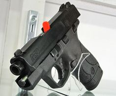 Smith & Wesson Shield, good conceal and carry in a .9mm and .40...Thu hubby wants to get me a .40 ;) nothin more romantic than gettin a gun from the hubbs! And I mean that!