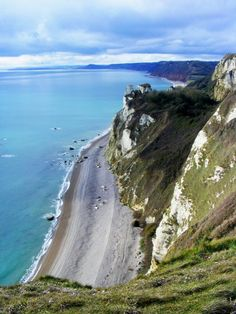 View from Beer Head, Jurassic Coast, Devon, UK