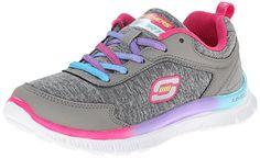Skechers (Skees) Skech Appeal-SPARKTACULAR - Zapatillas de Deporte para Niñas, Color Gris, Talla 28