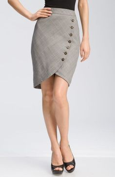 Free shipping and returns on Ted Baker London Button Front Plaid Tulip Skirt at Nordstrom.com. A unique, curved seam lined in tortoise shell buttons adds a chic edge to a sophisticated plaid skirt.