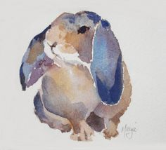 """A WABBIT"" Watercolor by Margie Whittington Art http://mwhittingtonart.blogspot.co.uk/2010/03/recent-art-work.html"