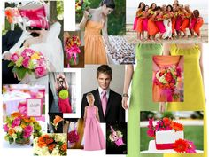 Bright wedding colors, makes me think of @Hillary Hem