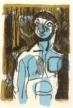 'Blue Boy' 1949 by Keith Vaughan (English 1912-1977)