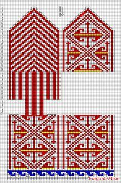 Джурабы-тапочки + схемка. - Вязание - Страна Мам Knitting Charts, Knitting Socks, Knitting Patterns, Crochet Patterns, Fair Isle Chart, Knitted Slippers, Knitting Projects, Mittens, Knit Crochet