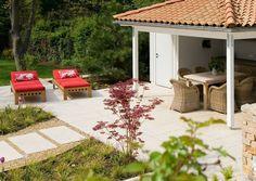 Kalksteinterrasse Patio, Outdoor Decor, Home Decor, Natural Stones, Garten, Homemade Home Decor, Yard, Terrace, Decoration Home
