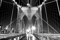 Patterns in the Brooklyn Bridge ~ NYC // William Woodward