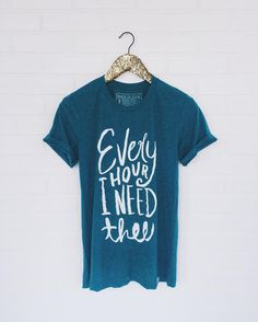 Our newest design on the best teal color you've ever laid eyes on. :) #walkinlove #everyhourineedthee