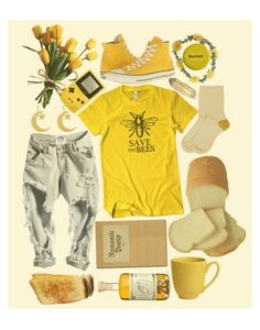 """""""yellow // """"1979"""" the smashing pumpkins"""" by shiasunflower ❤ liked on Polyvore featuring Pier 1 Imports, Converse, Maria La Rosa, Wet Seal, yellow, grunge, bees and aesthetic"""