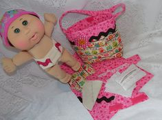 Diaper Bag Toy for Dolls With Diapers Wipes by thatssewholly