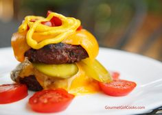 Gourmet Girl Cooks: The Burgerwich - Easy & Delicious Low Carb Fare