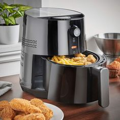 Low Fat Air Fryer Digital Healthy Cooker Oil Free Frying Not Just for Chips No Oil Fryer, Small Kitchen Appliances, Kitchen Small, Cooking Temperatures, Deep Fryer, Cooking Ingredients, Energy Consumption, Mini Fridge, Healthy Alternatives