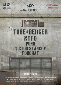 Warehouse - Tube&Berger, NTFO, Punu, Victor Stancov and Fouchat. Warehouse, Parties, Youtube, Fiestas, Fiesta Party, Magazine, Party, Youtubers, Storage Room