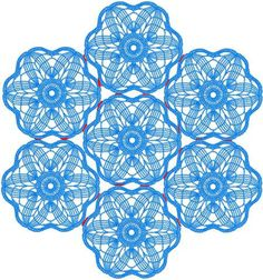 Ricami avanzate. FSL Crochet Flower Motif Set per ricamo a macchina.