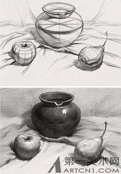 Trendy Nature Drawings Pencil Sketches Still Life Ideas Still Life Sketch, Still Life Drawing, Still Life Art, Pencil Art Drawings, Art Drawings Sketches, Basic Drawing, Charcoal Drawing, Object Drawing, Drawing Studies