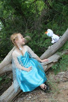 Disney Princess photo shoot, 5 years old. Elsa from Frozen