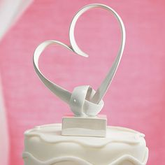 """""""My Love"""" Stylized Heart Cake Topper - Weddingstar"""