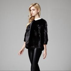 Lilly e Violetta Milano 'Sarah' mink jacket in black £5,400 | lillyevioletta.com