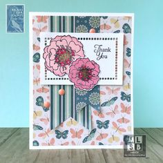 Summer Floral Thank You White Gel Pen, Gel Pens, I Card, Thank You Cards, Stamping, Layouts, Clever, Card Making, 3d