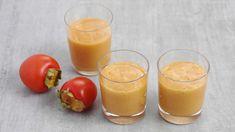 Bittersüsse Vitaminbombe für kalte Wintertage: ein raffinierter Shake mit Kakis, Grapefruit, Datteln und Banane - geht runter wie Öl und macht putzmunter.