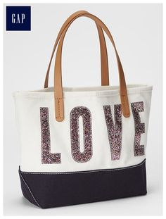 Shimmer love tote