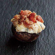 Bacon and Ricotta-Stuffed Mushrooms Recipe | MyRecipes.com