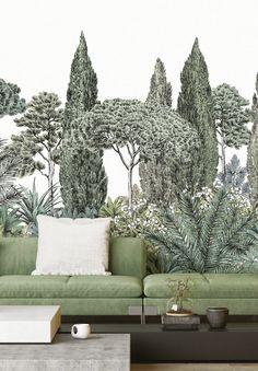 Vintage Style Wallpaper, French Wallpaper, Fabric Wallpaper, Classical Interior Design, Study Interior Design, Interior Design Living Room, Mural Art, Wall Murals, Bedroom Murals