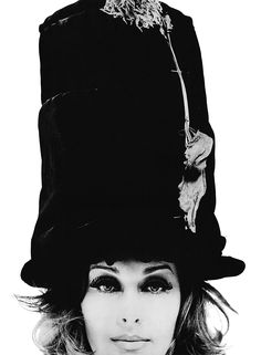 Sam Haskins, Mime Hat Close Up from & Girls& 1962 60s And 70s Fashion, Vintage Fashion, Sirens Fashion, Famous Photographers, Vintage Outfits, Vintage Hats, Vintage Glam, Vintage Books, Vintage Ladies