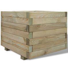 Plantenbak vierkant 50 x 50 x 40 cm (hout) 32,99