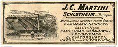 Original-Werbung/ Anzeige 1905 : MECHANISCHE WEBEREI MARTINI / SCHLOTHEIM / THÜRINGEN  - ca. 115 x 45 mm