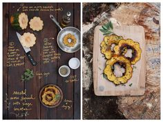 Roasted Acorn squash, roasted and smothered in sage butter plus a sprinkle of sea salt. | The Forest Feast