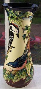 "Moorcroft 12"" vase Ingleswood 364/12 Philip Gibson birds 2003 | eBay"