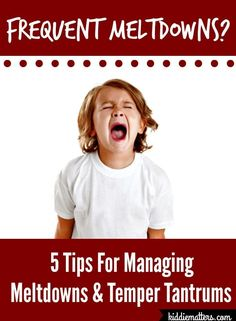 Tips and strategies to help children calm down when they are having meltdowns and temper tantrums.