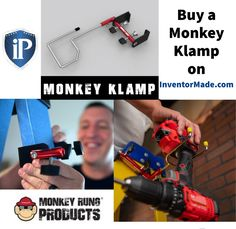 Ladder falls = 135 times a day. Reason? Violation of a cardinal ladder rule: maintain 3-points of contact. Keep the ladder users in ur life safe = Monkey Rung® products. They improve 3-point contact while providing a convenient place to hang tools. #tool #newtools #monkeyrung Buy A Monkey, Leash Aggression, Ladder Accessories, The Inventors, Achieve Success, How To Stay Motivated, Renewable Energy, Audio Books, Inventions