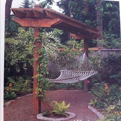 Small pergola for hammock! Love this!