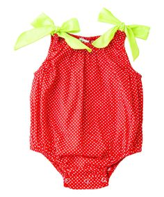 Look at this Red Polka Dot Bubble Bodysuit - Infant on #zulily today!