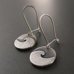 Cresting Wave Sterling Silver Earrings – Beth Millner Jewelry