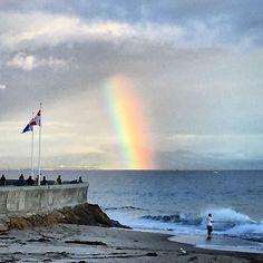 Rainbow at the Harbor - Santa Barbara News - Edhat