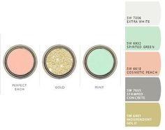 mint grey and gold - Google Search