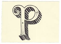 illustrated letter p