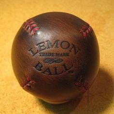 Legendary Brown Horween Chromexcel Leather LEMON BALL baseball.