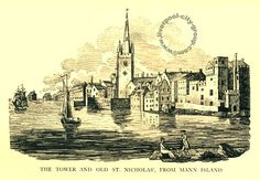 Liverpool, history, liverpool-l2-the-tower-and-old-st-nicholas-from-mann-island