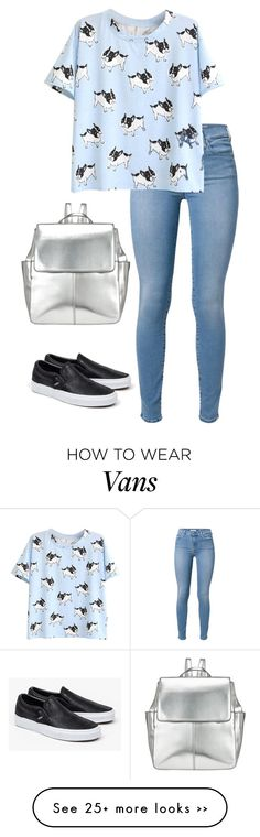 """""""Untitled #282"""" by laurahyuna on Polyvore featuring 7 For All Mankind, Vans and Kin by John Lewis"""