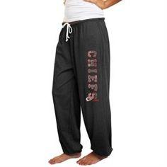 Kansas City Chiefs Women's Plus Sizes Tapered Fleece Pants - Charcoal