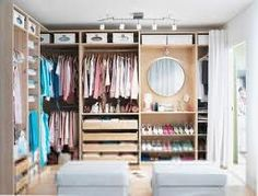 PAX closet inspiration Love this for my new walk-in closet