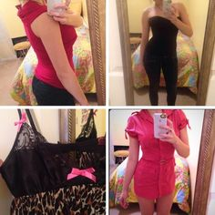 48 hour sale!  Vixen Valentine Vday Bundle :) Rock your inner Vixen this Valentine's Day with this fierce four-piece designer bundle! Best fits sizes 0-4. Included, in order of 1st pic: BCBGMAXAZRIA top, NWOT, small. Bebe corset, like new, 2. Betsey Johnson lingerie top, NWOT, small. Bebe mini shirt dress, EUC, XS. More info in individual listings. Snag this awesome deal while you can! Sale ends at 3:00 am Wednesday morning (late Tuesday night) to ensure that items arrive by Saturday the…